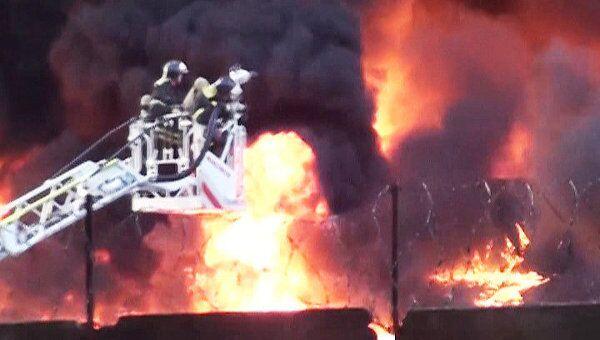 Пожар вспыхнул на улице Талалихина в Москве