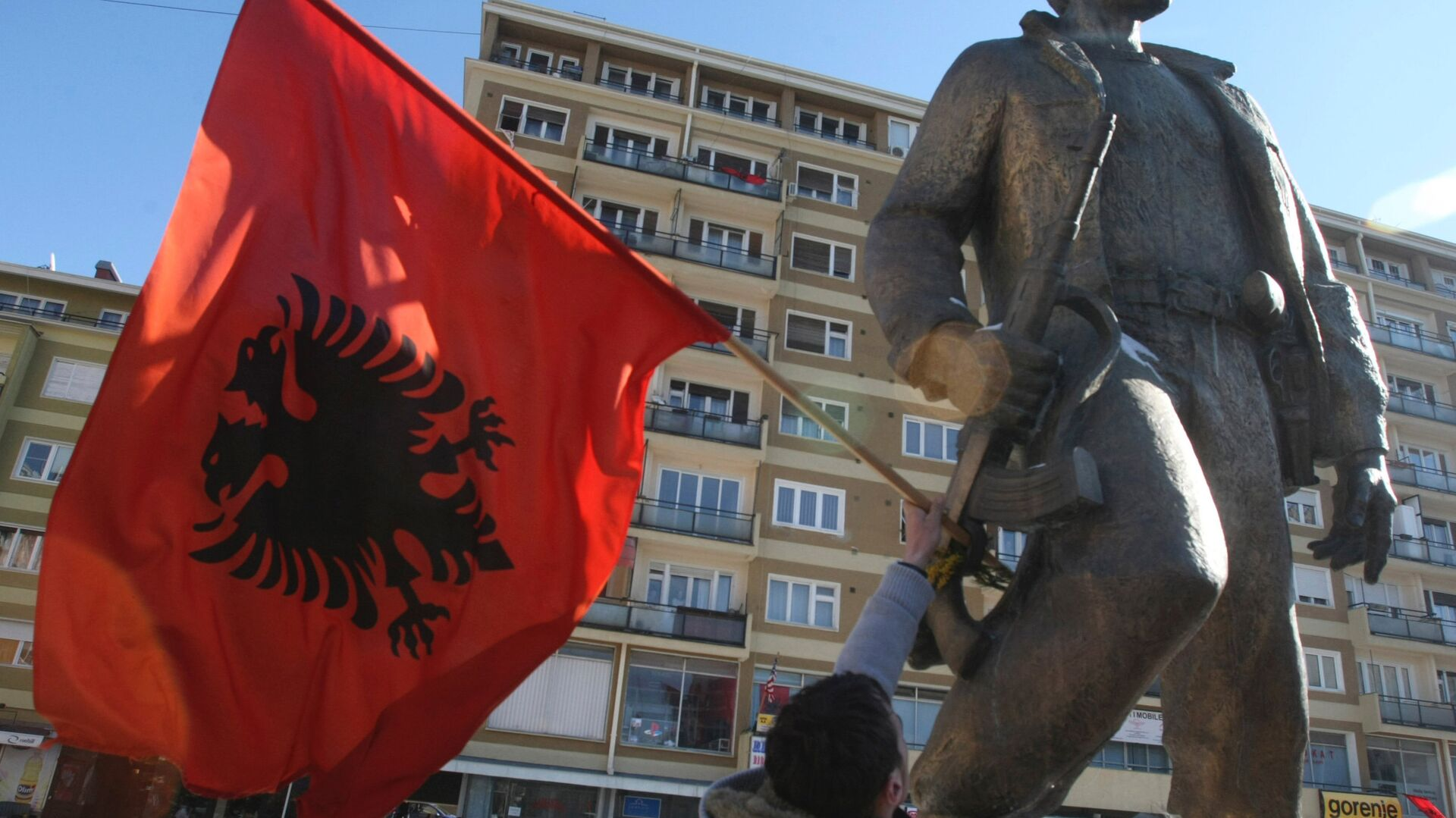 Приштина. Албанский флаг - РИА Новости, 1920, 16.03.2021