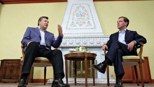 Президенты РФ и Украины Д.Медведев и В.Янукович. Архив