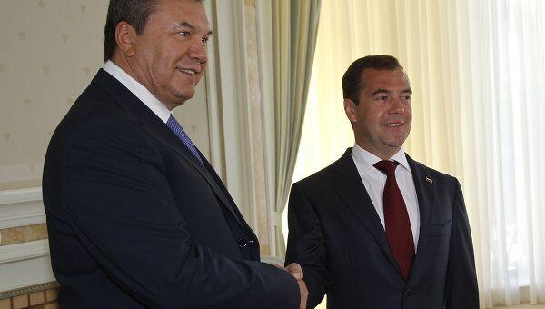 Президент РФ Д.Медведев принял в сочи президента Украины В.Януковича