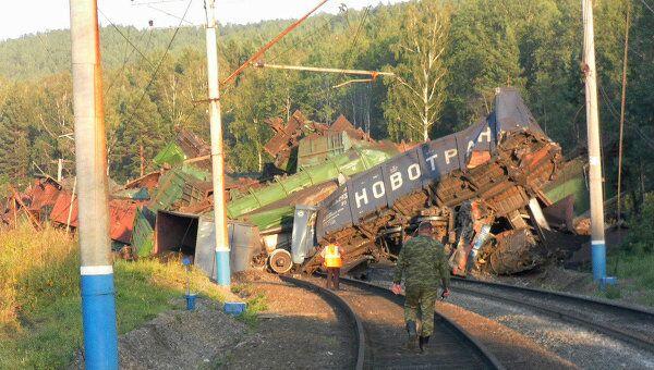 Столкновение грузовых поездов в Челябинской области