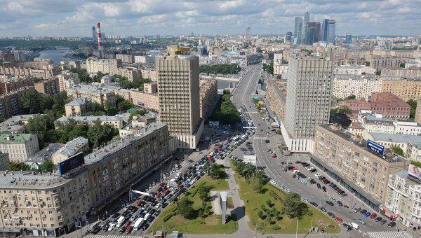 Вид на Москву с крыши здания МИД РФ