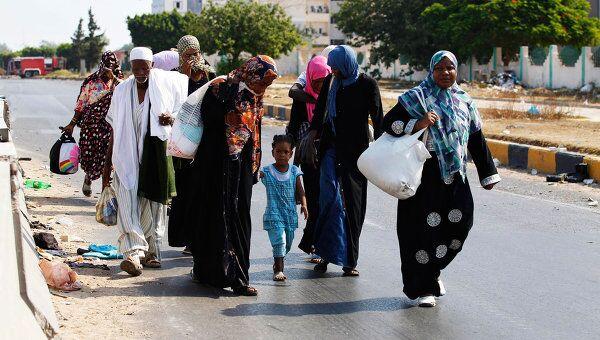 Эвакуация жителей Триполи