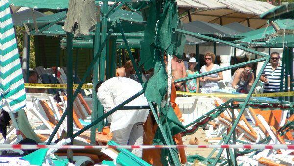 Взрыв произошел на пляже в Кемере