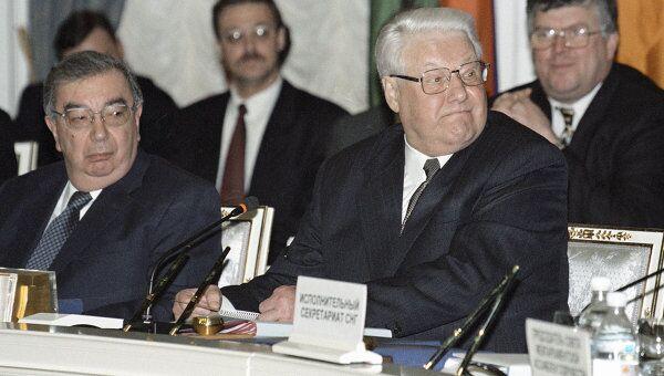 Евгений Примаков и Борис Ельцин