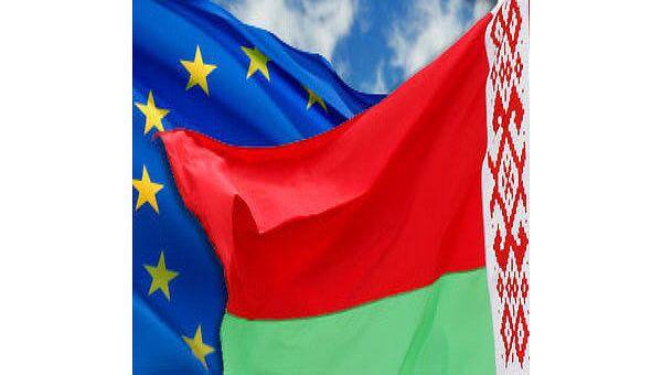 Флаг Евросоюза и Белоруссии. Архив