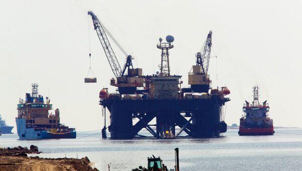 Строительная площадка газопровода Северный поток