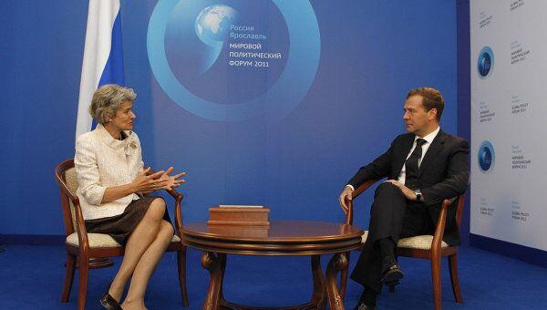 Д.Медведев на Мировом политическом форуме в Ярославле