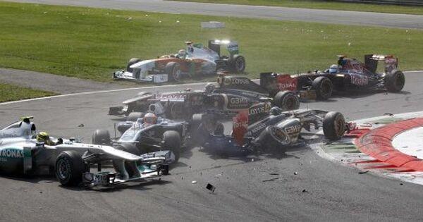 Стокновение болидов на Гран-при Илалии
