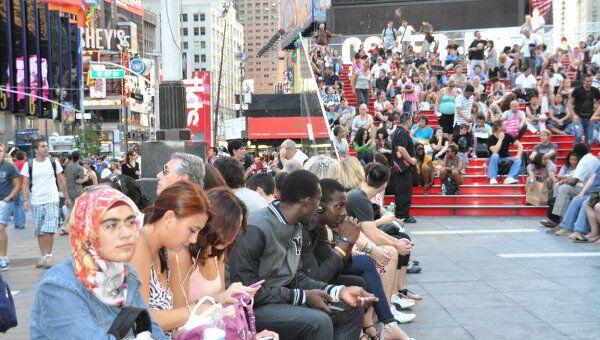 Годовщина терактов 11 сентября в Нью-Йорке
