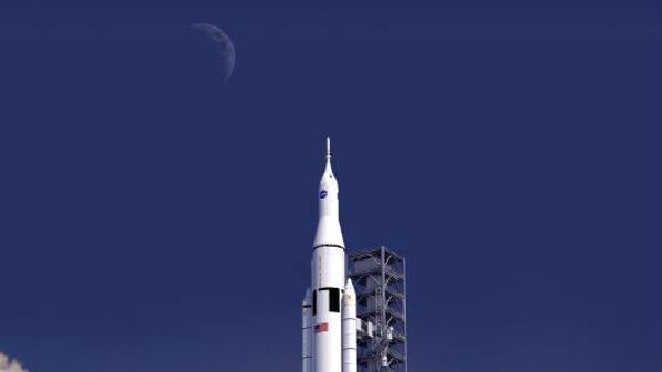 Ракета-носитель SLS на старте. Архивное фото