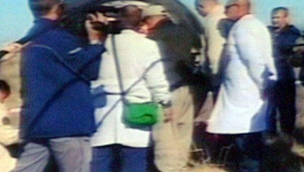 Космонавты МКС поговорили с родными сразу после приземления
