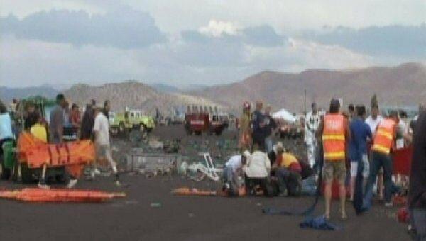 Самолет упал на трибуну во время авиашоу в Неваде (США)