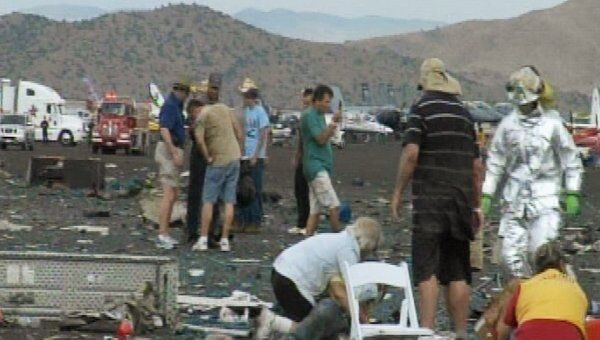 В Неваде самолет упал на трибуну во время чемпионата по самолетному спорту