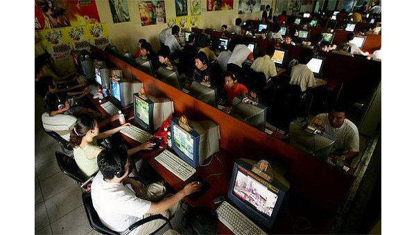 Интернет-кафе в Китае. Архивное фото