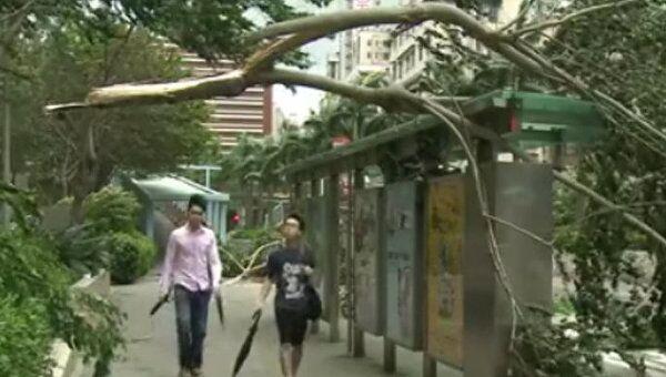 Тайфун Нисат в Гонконге