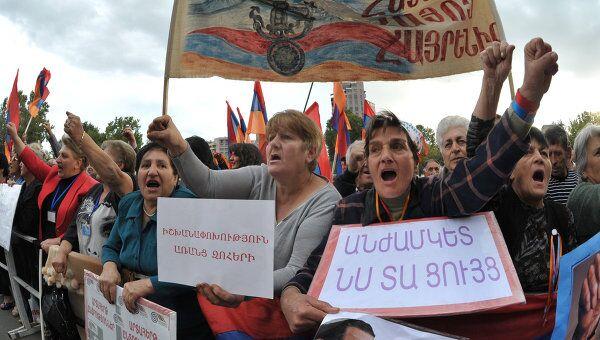 Митинг оппозиции в Ереване. Архив