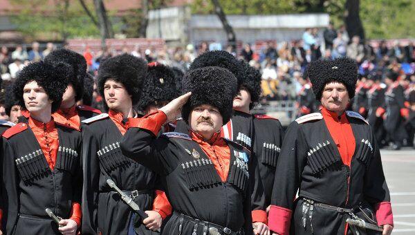 Казачий парад в Краснодаре