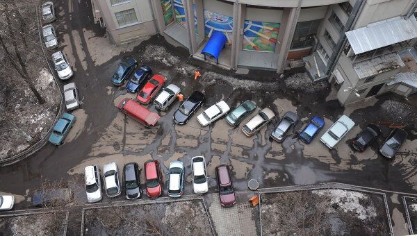 Припаркованные автомобили. Архив