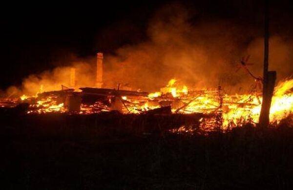 Пожар в доме престарелых под Костромой