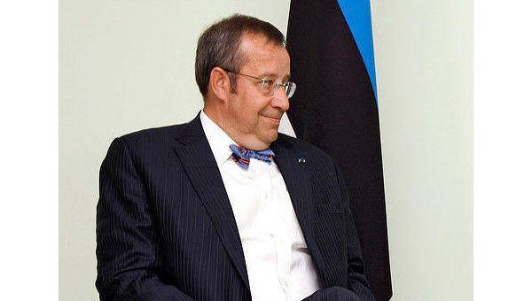 Президент Эстонии Томас Хендрик Ильвес, архивное фото