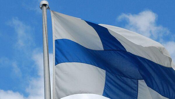Финский флаг. Архивное фото.