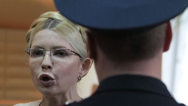 Юлия Тимошенко в Печерском районном суде Киева. Архив