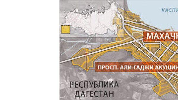 Махачкала. Карта
