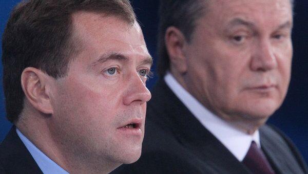 Д.Медведев и В.Янукович . Архив