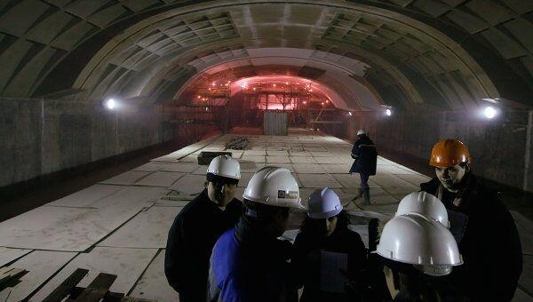 Строительство станции метро Митино