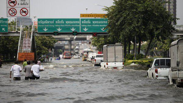 Затопленный район в Бангкоке
