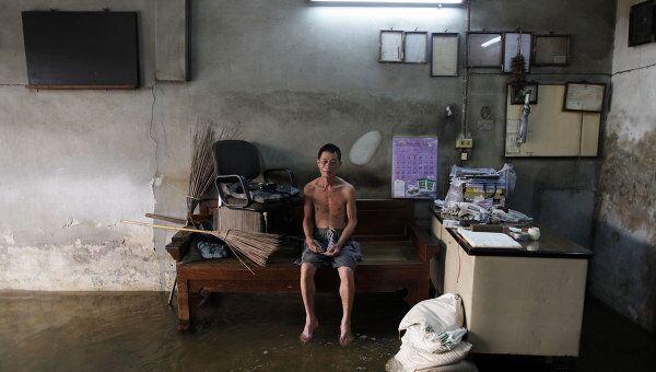 Затопленный район Бангкока