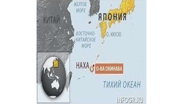 Острова Окинава. Карта