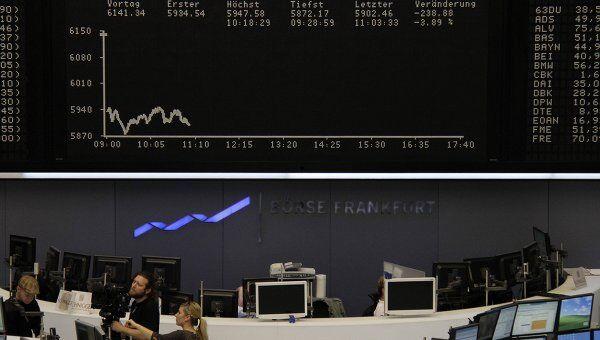 Торги немецкой фондовой биржи DAX во Франкфурте