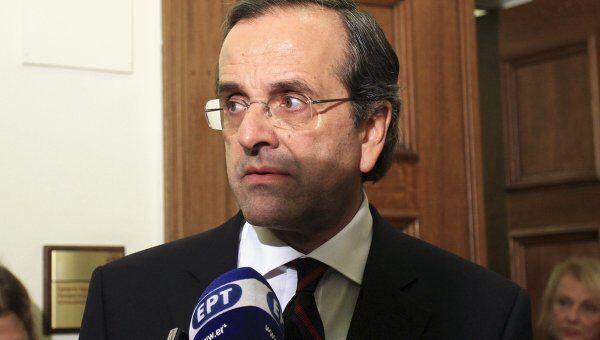 Лидер ведущей оппозиционной партии Греции Антонис Самарас