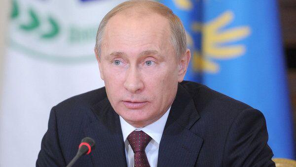 Премьер-министр РФ В.Путин на заседании ШОС в Санкт-Петербурге