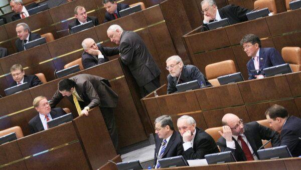 Заседание Совета Федерации. Архив