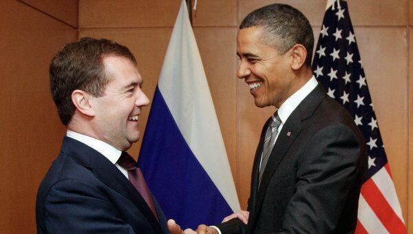 Встреча Дмитрия Медведева и Барака Обамы. Архив