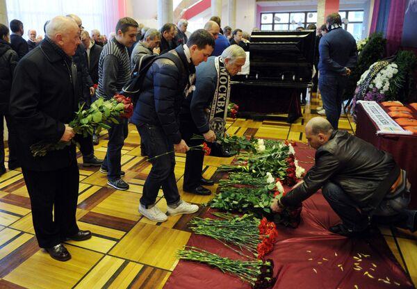 Церемония прощания с тренером Валентином Ивановым