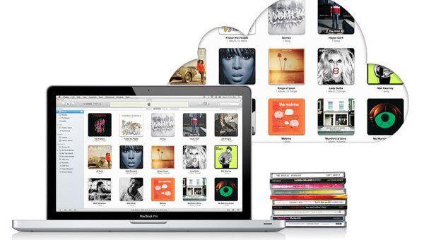 Платный сервис потокового прослушивания личной фонотеки через интернет iTunes Match. Архивное фото