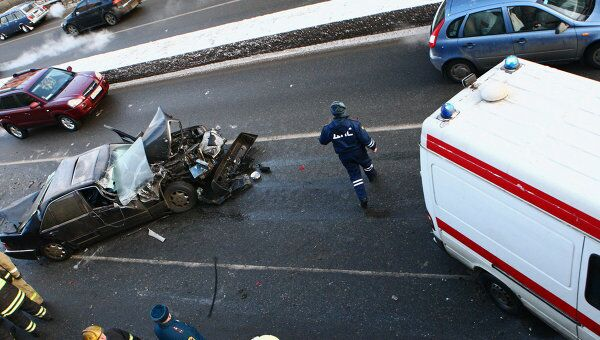Дорожно-транспортное происшествие в Москве. Архив