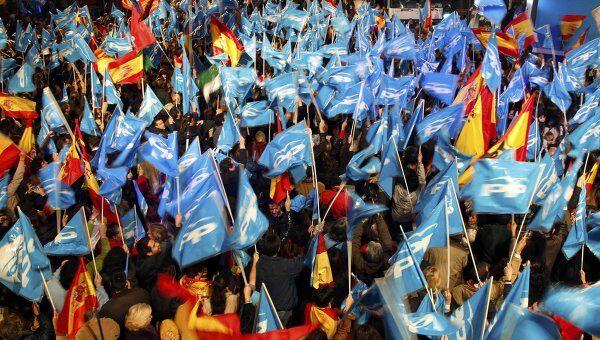 Сторонники Народной партии в Испании празднуют победу