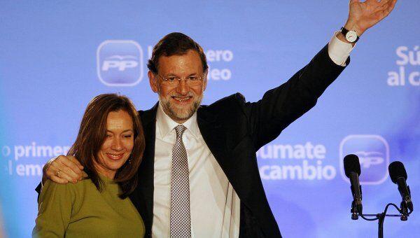 Лидер Народной партии Испании Мариано Рахой