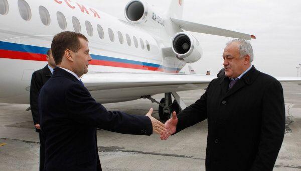 Рабочая поездка Д. Медведева во Владикавказ