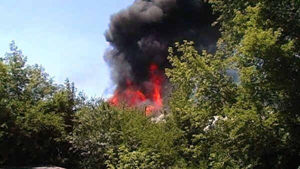 Пожар в Макеевке. Архивное фото