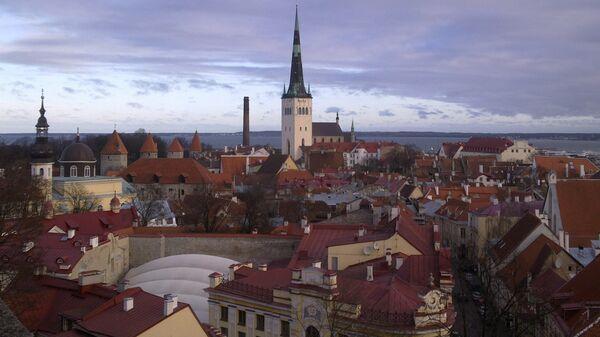 Вид на Старый город Таллина. Архив