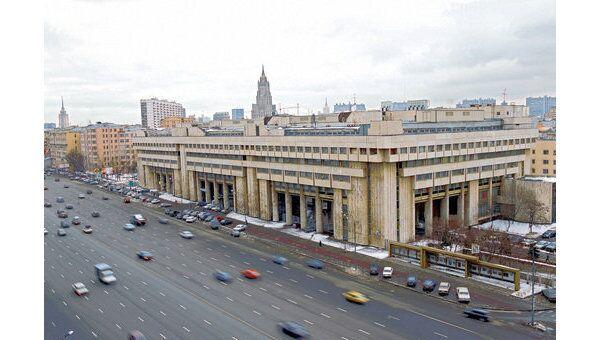 Здание российского информационного агентства Новости на Зубовском бульваре в Москве