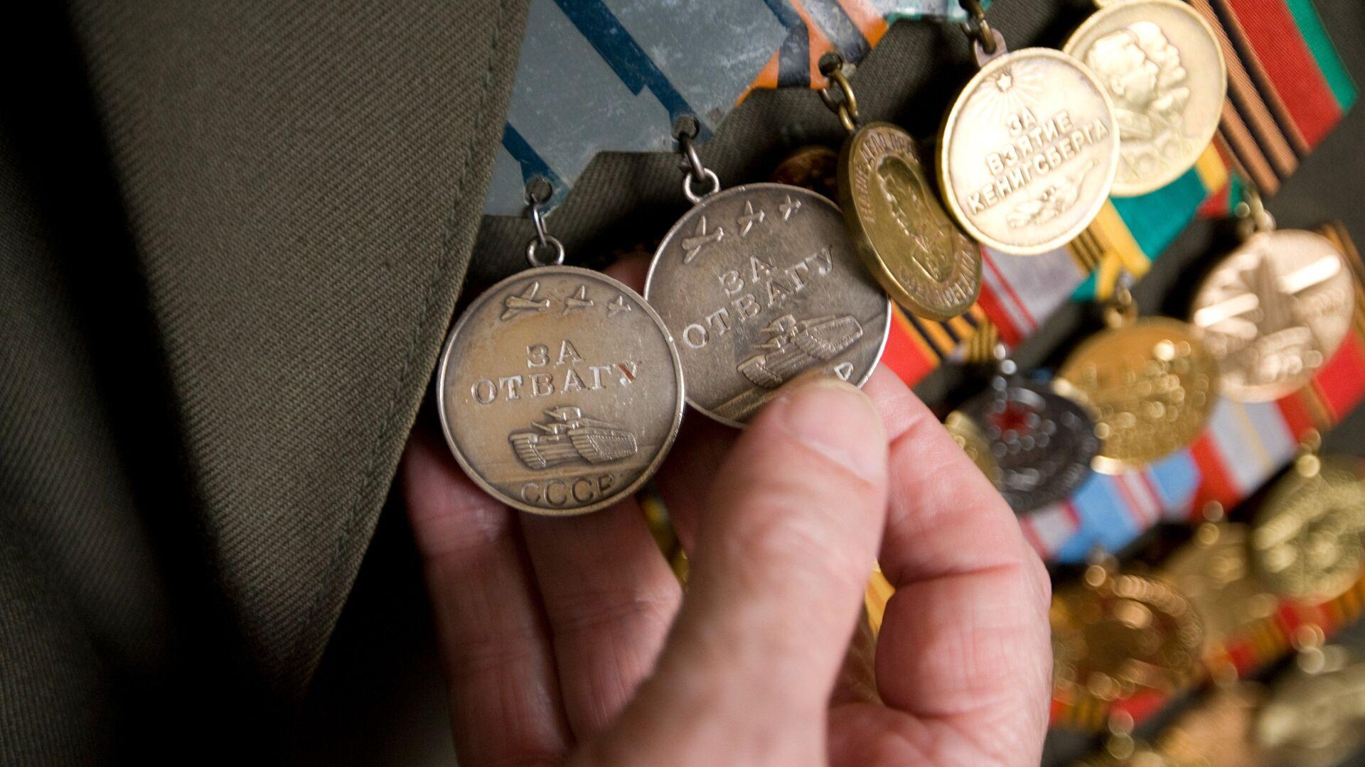 Медали ветерана Великой Отечественной войны - РИА Новости, 1920, 12.10.2020