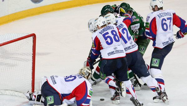 Игровой момент матча Ак Барс - Металлург (Магнитогорск)
