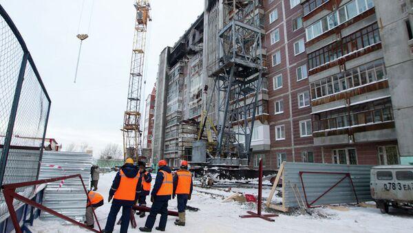 Работы по укреплению дома на Сибирской